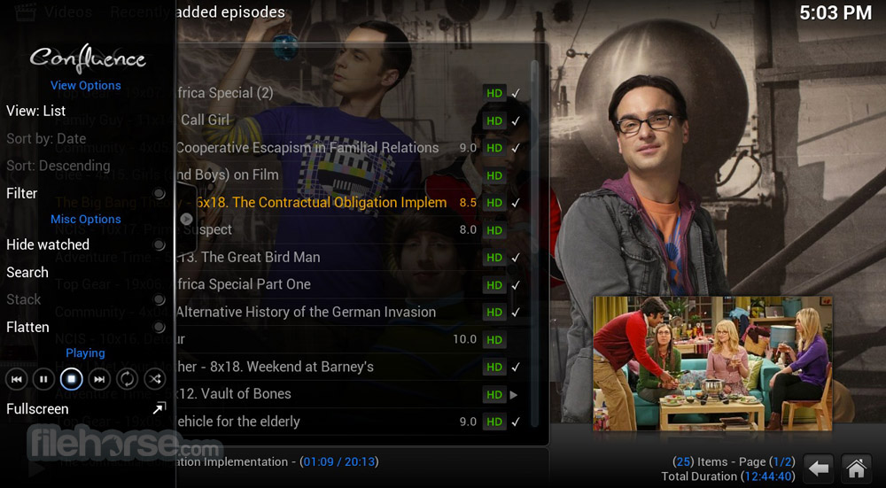 XBMC Media Center 12.3 Screenshot 3