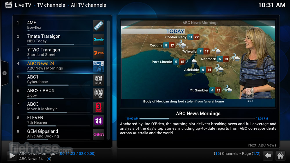 XBMC Media Center 12.3 Captura de Pantalla 4