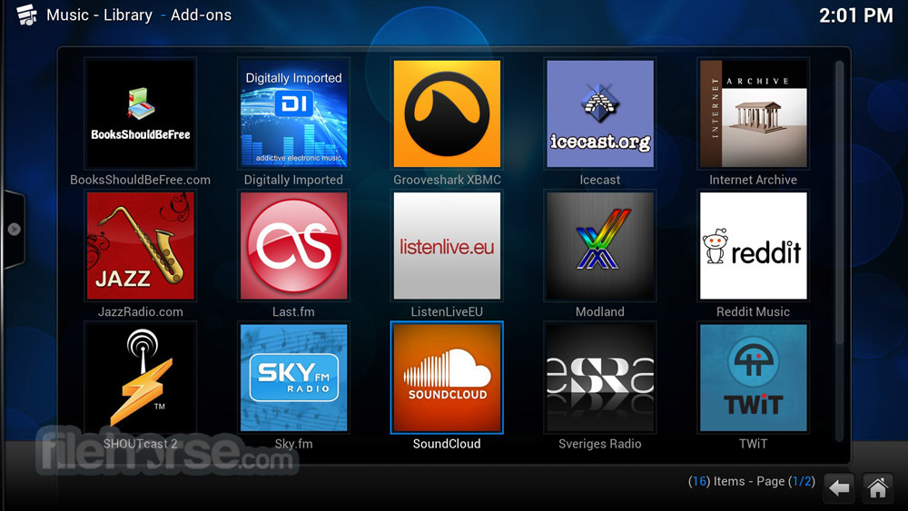 XBMC Media Center 13.1 Captura de Pantalla 5