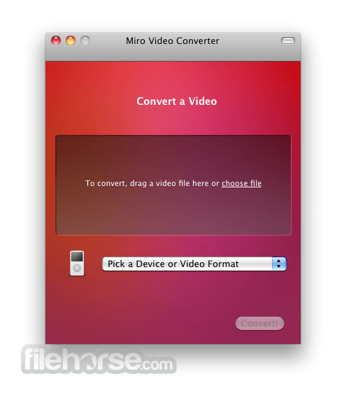Miro Video Converter 1.6 Screenshot 1