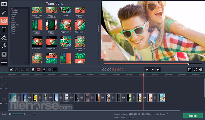 Movavi Video Editor 15.4.1 Captura de Pantalla 2