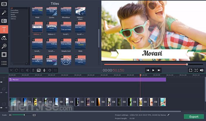 Movavi Video Editor 15.4.1 Captura de Pantalla 3