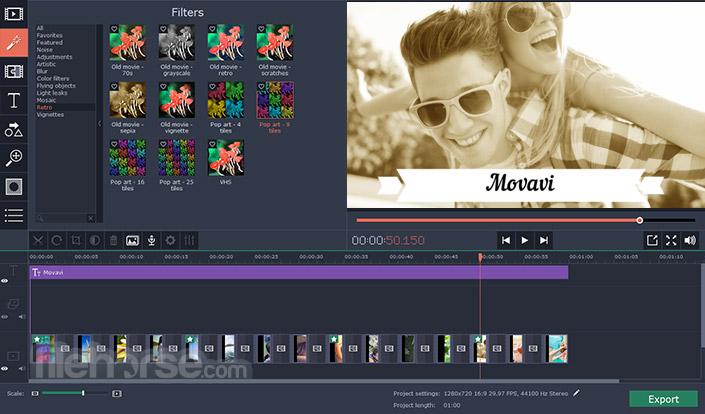Movavi Video Editor 15.4.1 Captura de Pantalla 4