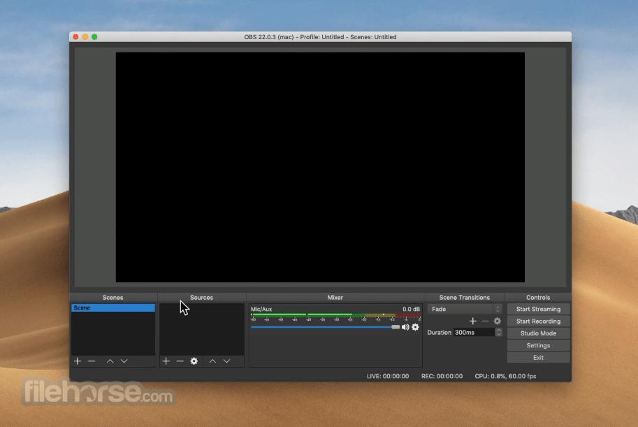 OBS Studio 27.0 Screenshot 1