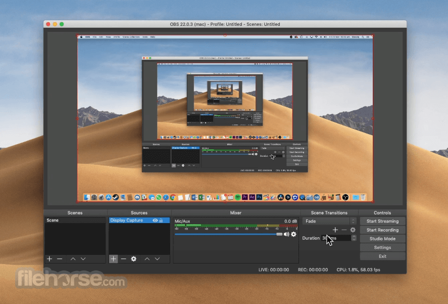 OBS Studio 27.0 Screenshot 2