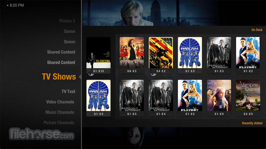 Plex Home Theater 1.4.0.459 (32-bit) Screenshot 1