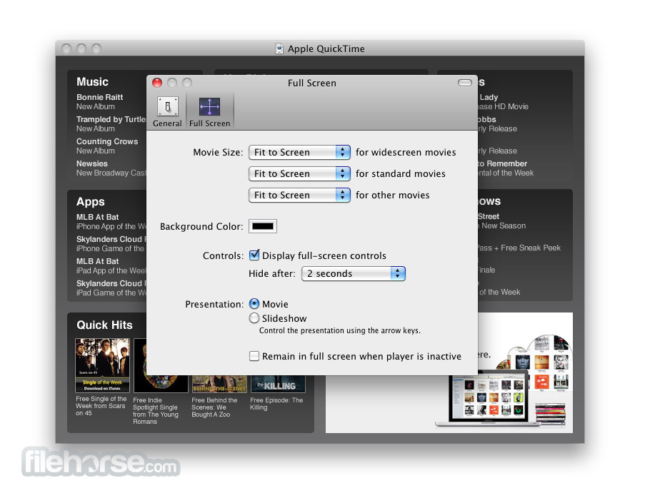 Quicktime 7.1.2 Screenshot 4