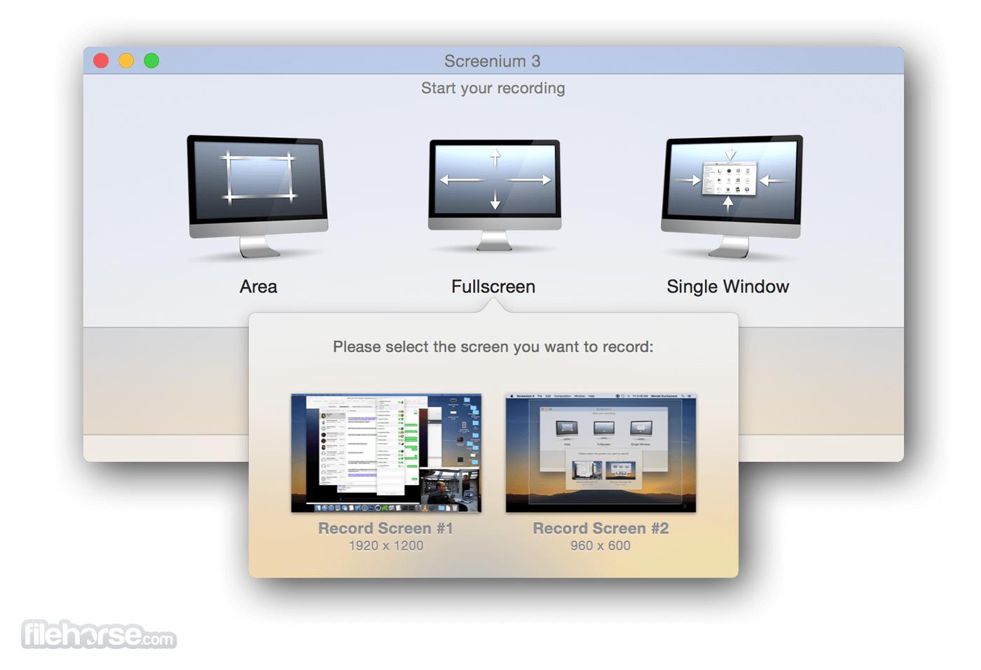 Screenium 3.3.1 Screenshot 1