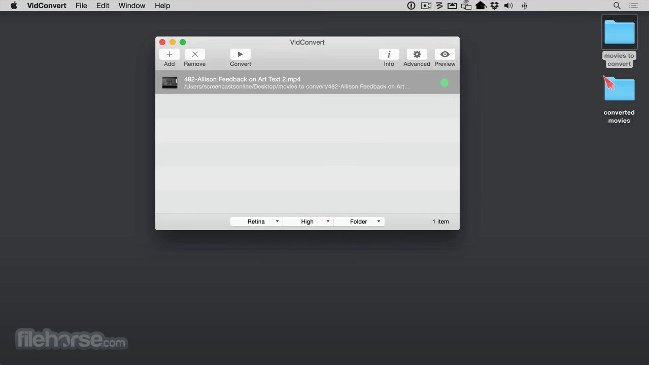 VidConvert 1.7.2 Captura de Pantalla 1