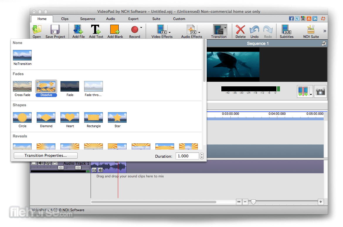 VideoPad Video Editor 4.21 Screenshot 2