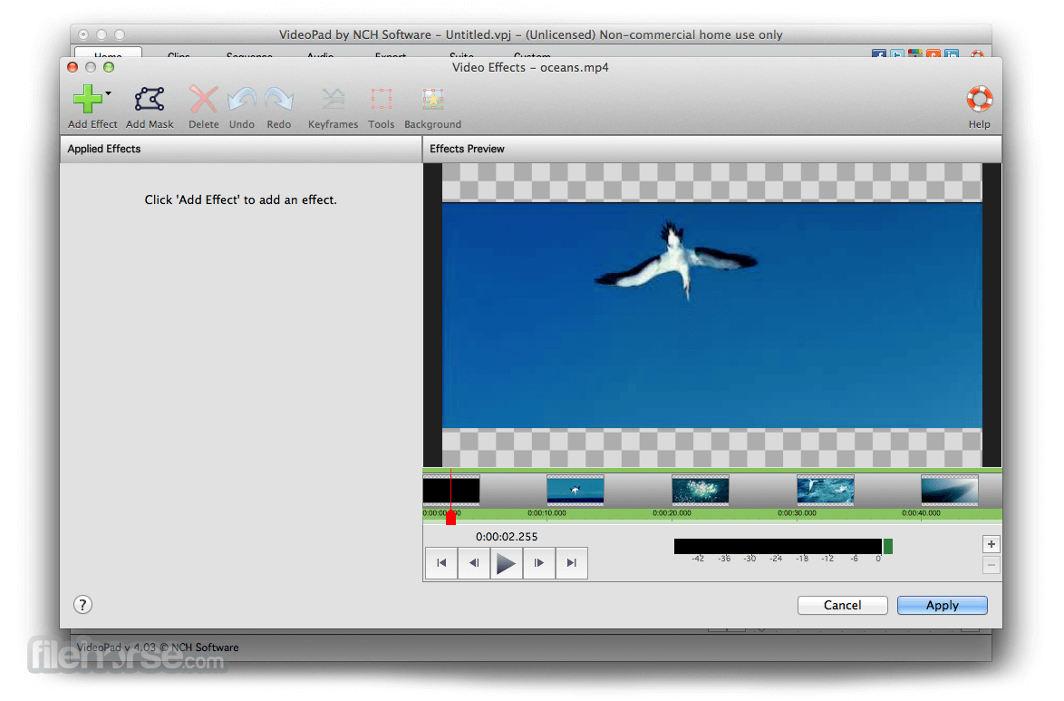 VideoPad Video Editor 4.21 Captura de Pantalla 3