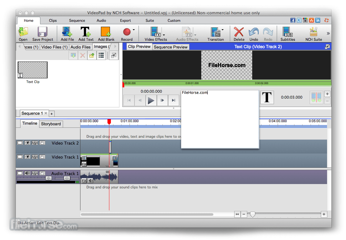 VideoPad Video Editor 4.21 Screenshot 4