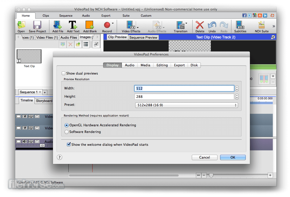 VideoPad Video Editor 4.21 Screenshot 5
