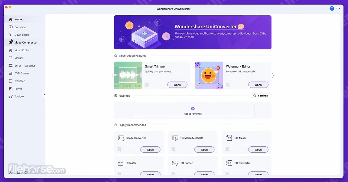 Wondershare UniConverter 13.0.3 Screenshot 1