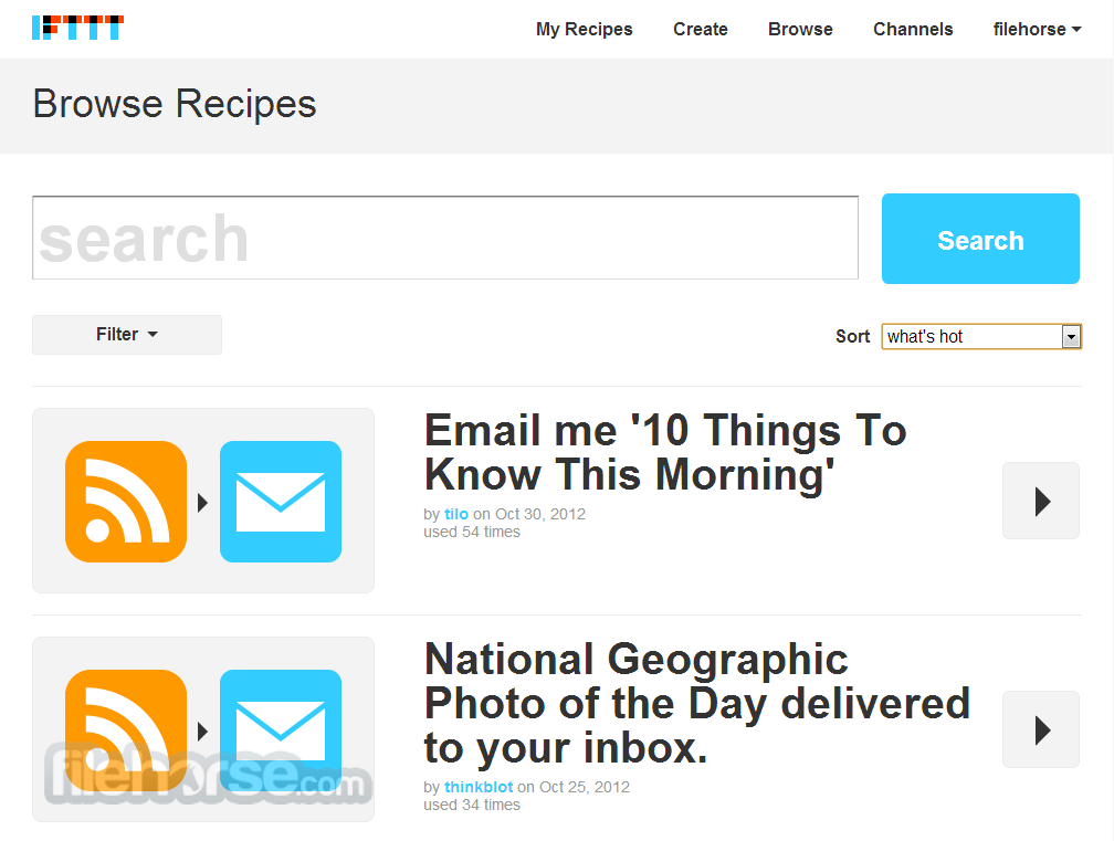 IFTTT Screenshot 3