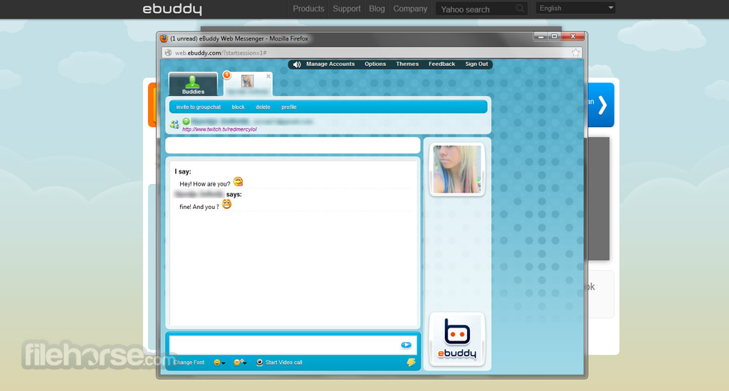 Ebuddy for pc chat.