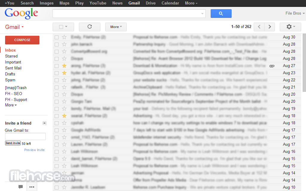 Gmail Captura de Pantalla 1