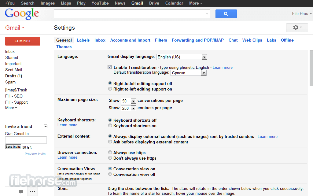 Gmail Captura de Pantalla 4