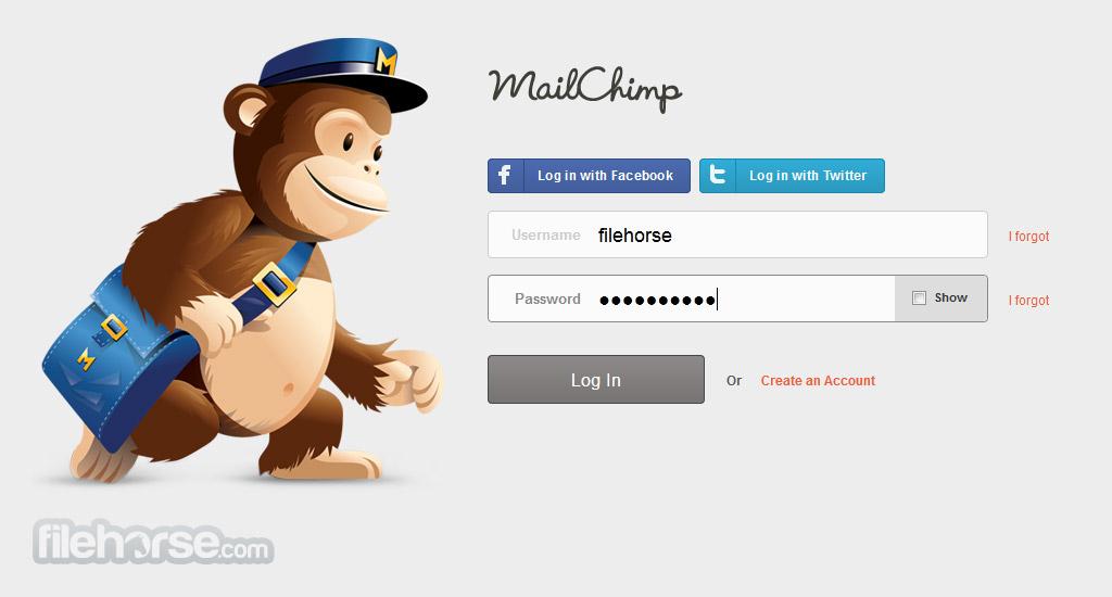 MailChimp Captura de Pantalla 1