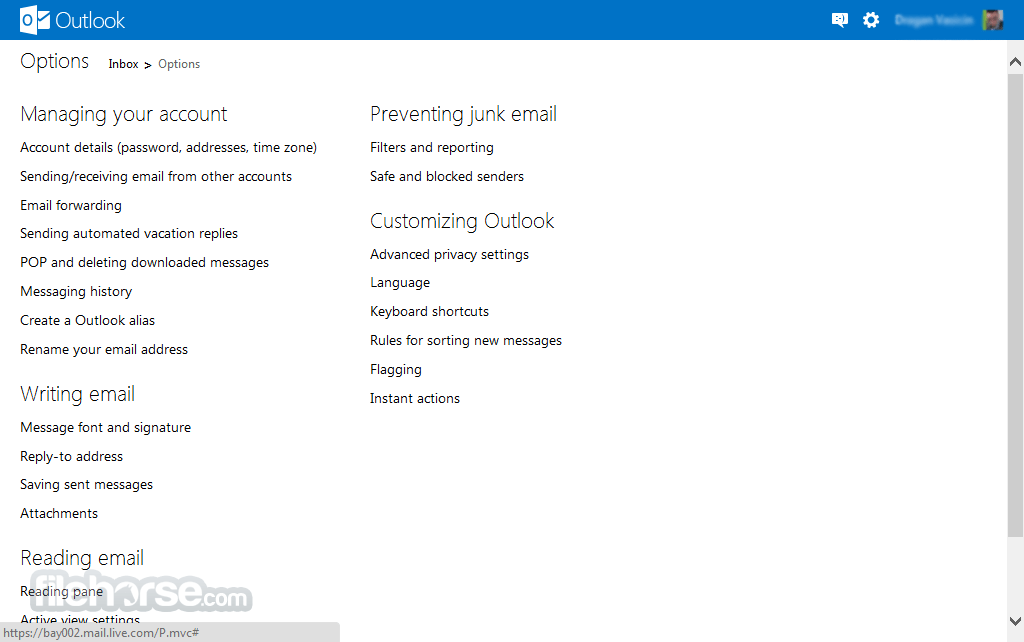 Outlook Screenshot 4