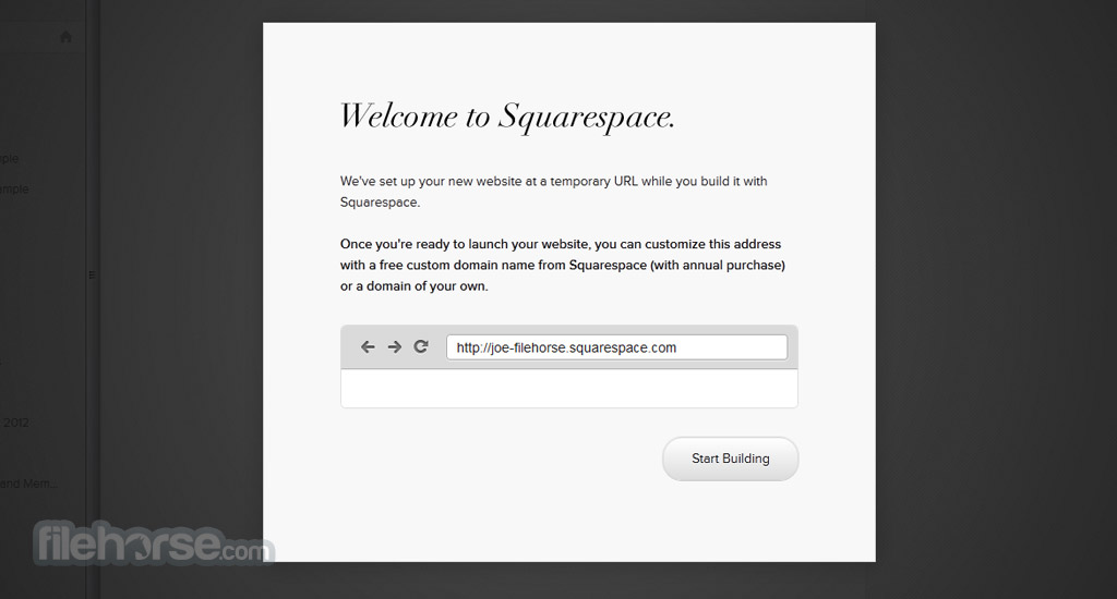 Squarespace Screenshot 1