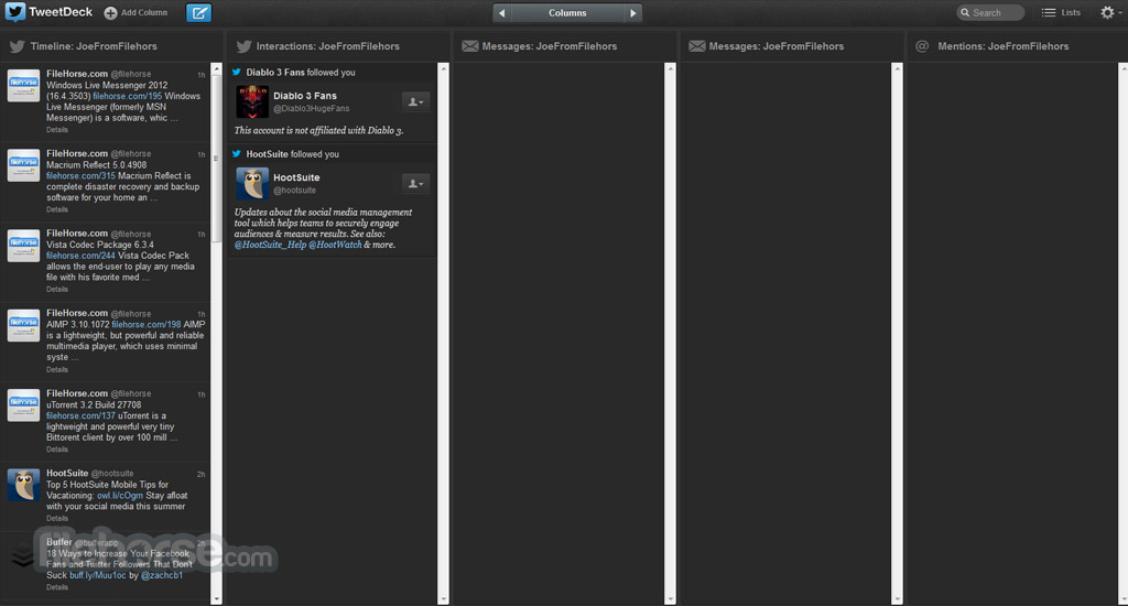 TweetDeck Captura de Pantalla 2