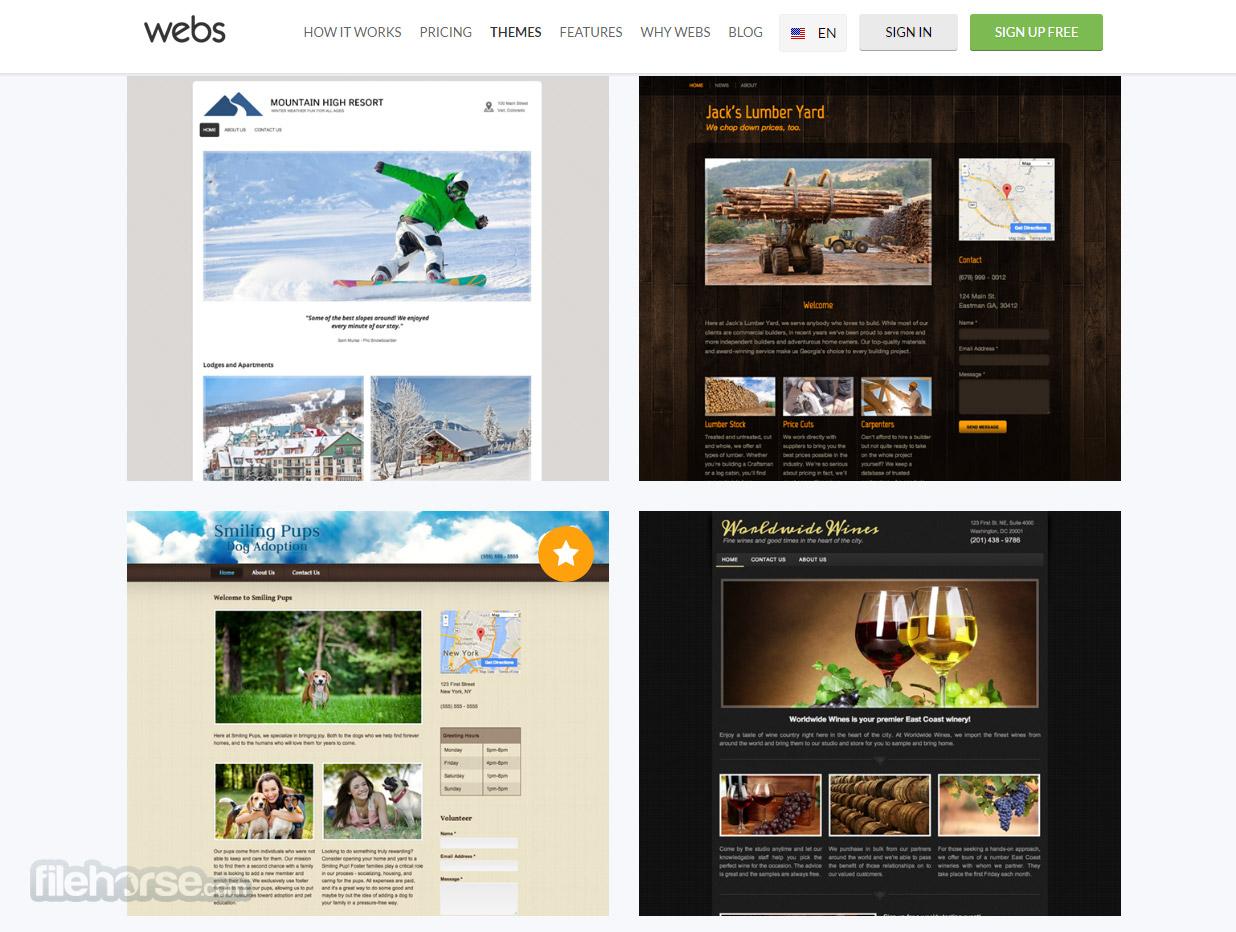 Webs Captura de Pantalla 1