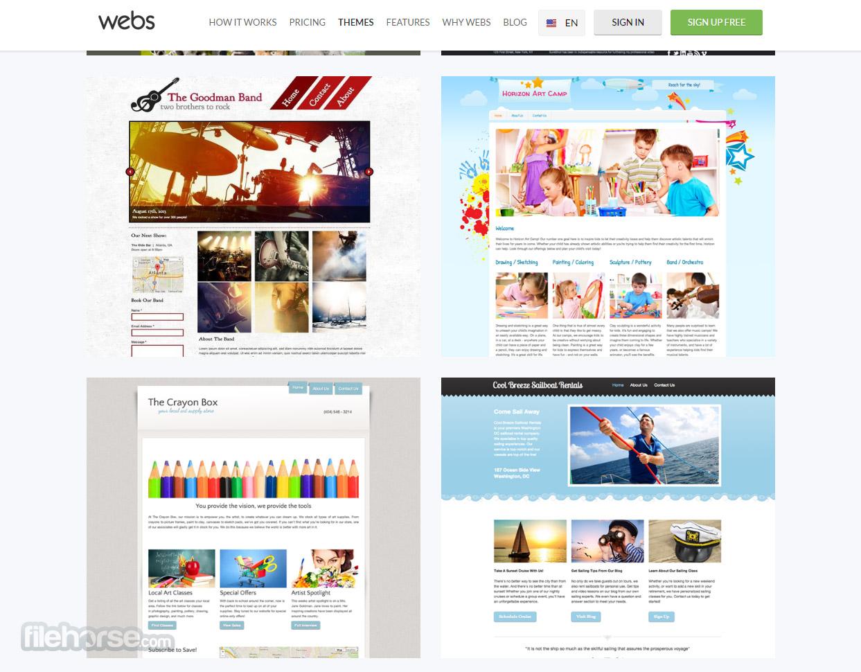 Webs Captura de Pantalla 2