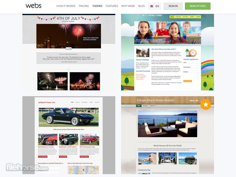 Webs Captura de Pantalla 3