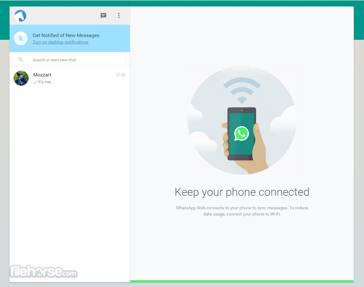 WhatsApp for Web Screenshot 1
