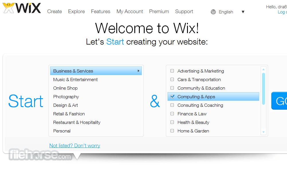 Wix Captura de Pantalla 1