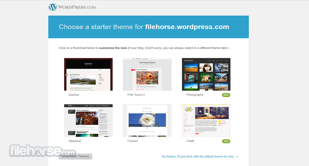 WordPress.com Screenshot 1