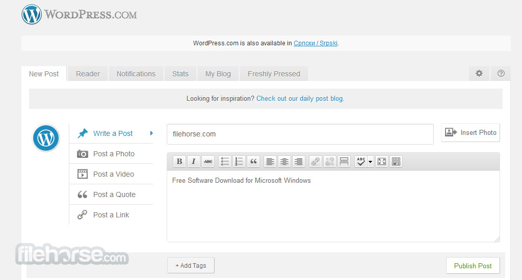 WordPress.com Screenshot 2