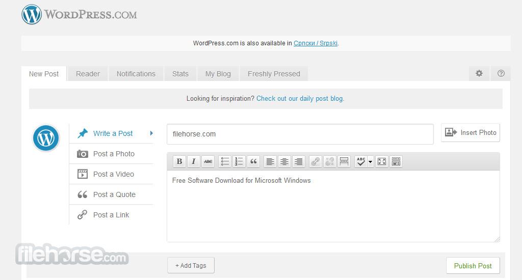 WordPress.com Screenshot 2