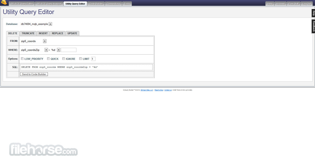 MyQuery Builder Screenshot 2