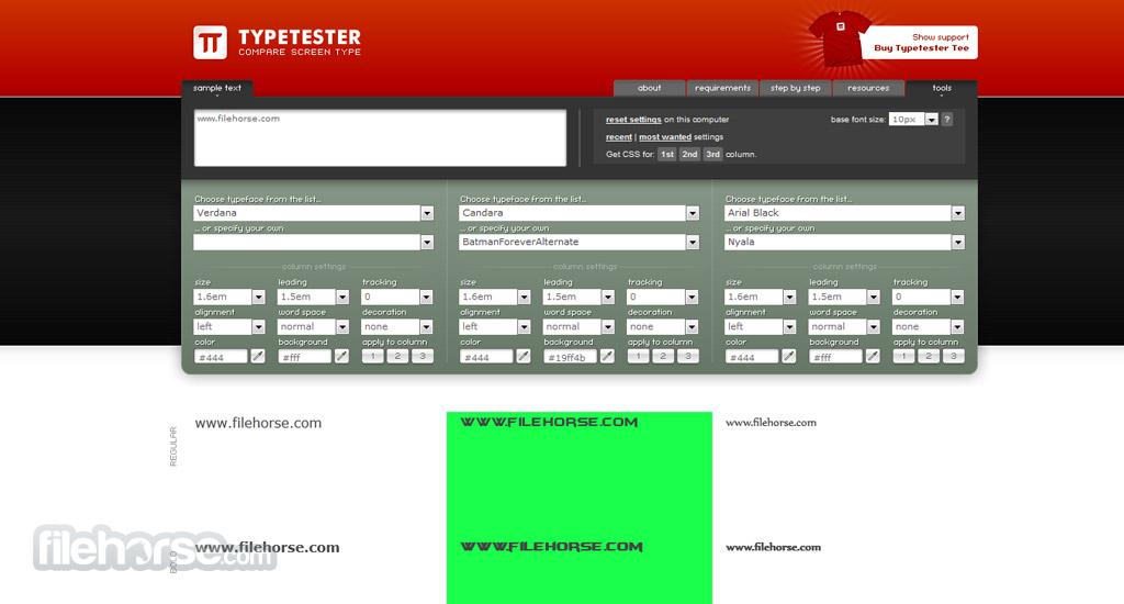 Typetester Screenshot 2