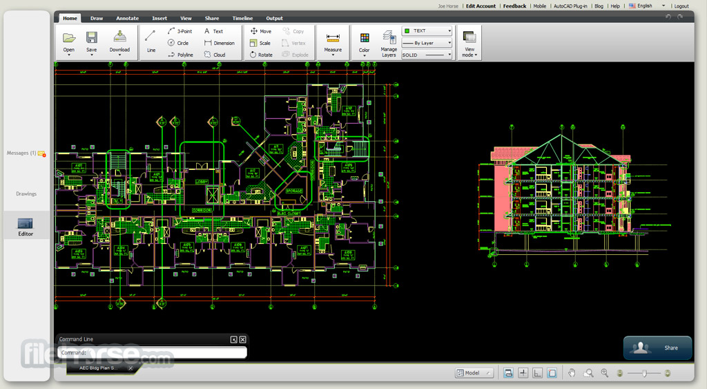 Autocad Web View Edit And Share Dwg Drawings