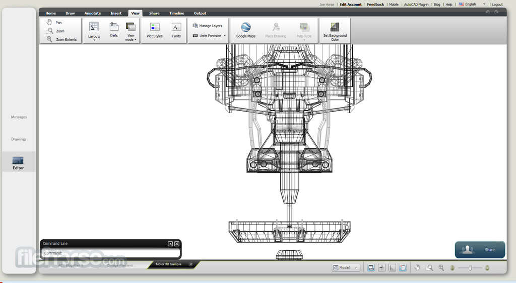 AutoCAD 360 Web Screenshot 3