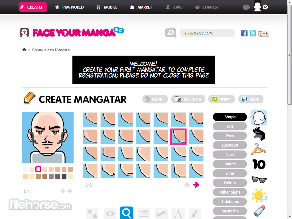 FaceYourManga Screenshot 1
