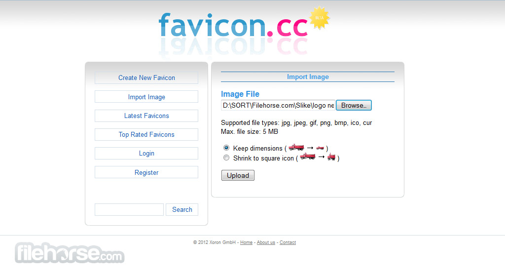 Favicon Generator Captura de Pantalla 2