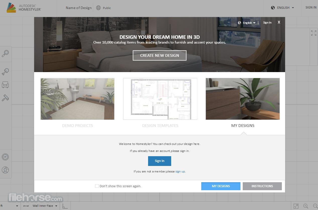 Autodesk Homestyler Captura de Pantalla 1