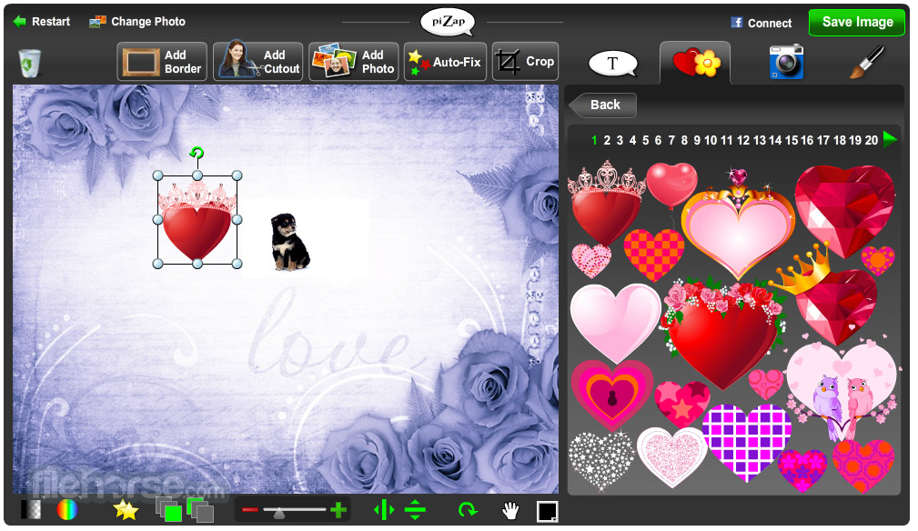 Pizap add funny graphics and funny effects on your photo screenshots reheart