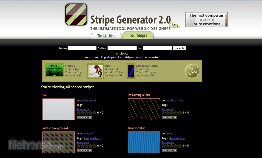 Stripe Generator Screenshot 3