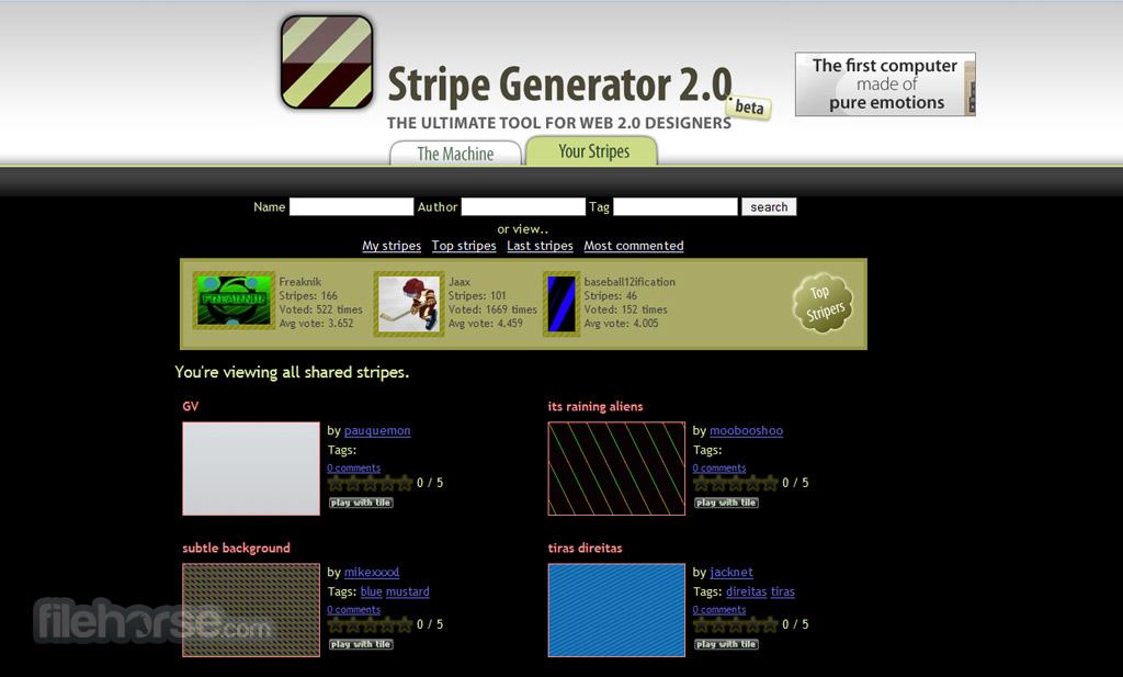 Stripe Generator Captura de Pantalla 3