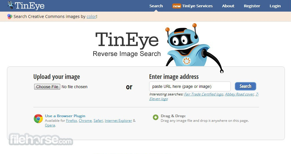 TinEye Screenshot 1