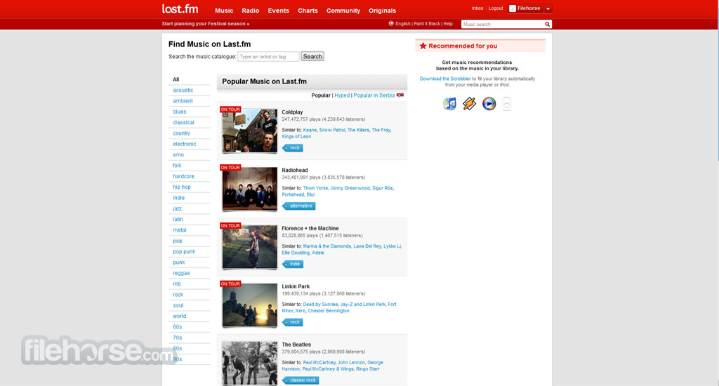 Last.fm Screenshot 1