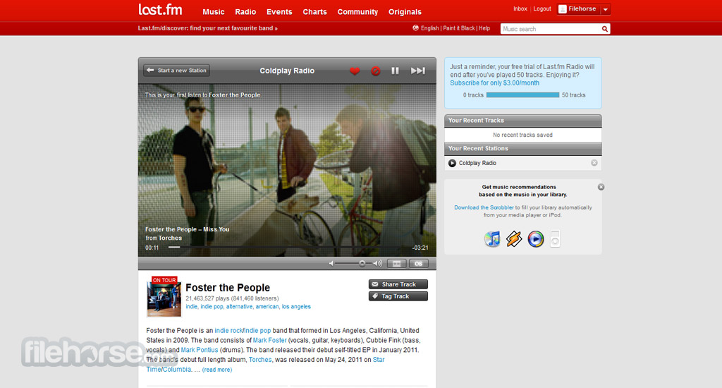 Last.fm Screenshot 2