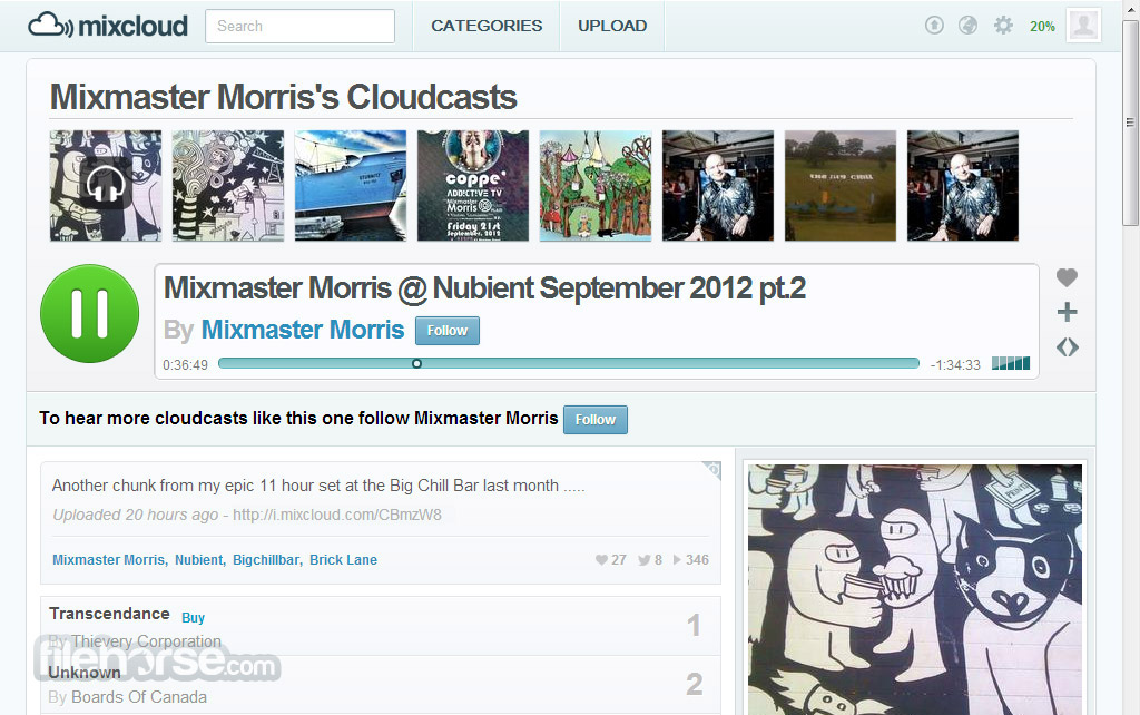 Mixcloud Screenshot 1