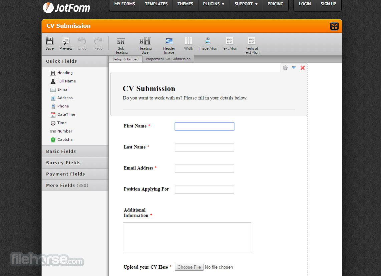 JotForm - Online form builder helps you create and publish web form ...