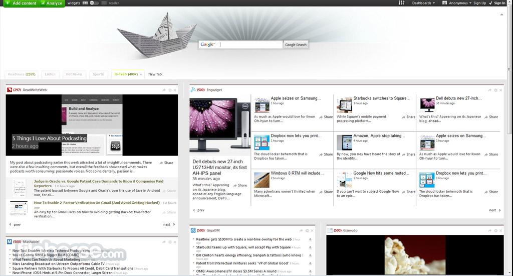 Netvibes Screenshot 3